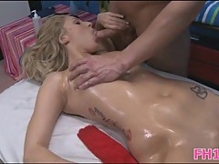 Pleasant fuck after oily massage