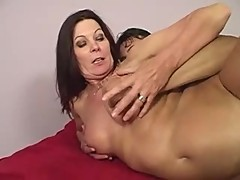 Lesbian Mom Magdelaine cries when fucked by a big Cock