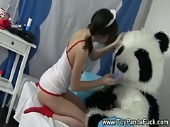 Teen nurse wants her toypanda to feel better