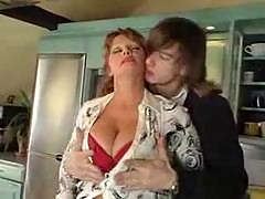 Mature with nice big tits fucks young guy