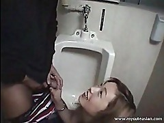 Asian slut blowjob and she slurps...