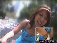 Anri Hiramatsu rides the orgasm bike