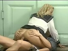 Retro Schoolgirls Anal Fun