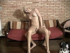 Young transsexual gets naughty ass fucked
