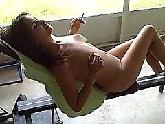 Smoking Big Titty Girlfriend Gets Fucked