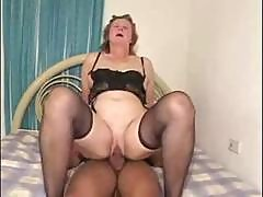 Plump Brunette Granny Roberts Likes Her Young Latino Cock