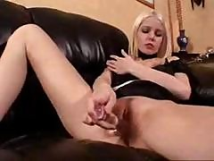Swedish Blonde Emma Using A Glass Dildo On Her Wet Tight Pussy