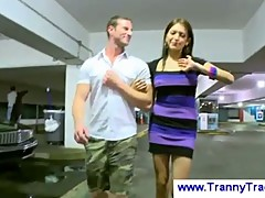 Transsexual teenager gives striptease