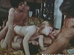 Vintage Porn 1970s - Group Sex with Hairy Blonde Teen
