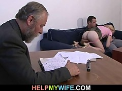Older husband pays him to fuck her wife