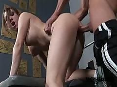 Amber Ashlee Sucks And Fucks The Trainer For A Workout In The Gym