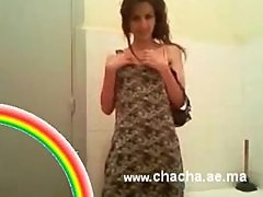 Arab teen get naked in bathroom and show her shaved pussy 9ahba