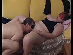 Young masked bbw and older guy