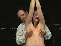 Teen slavegirl Lyarah tied and tormented ...
