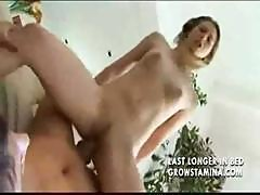 Brunette Teen Loves To Get A Nice Fat Cock Deep In Her Cunt