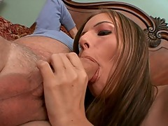 Autumn Skye sucks a massive cock