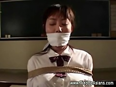 Roped asian slut ready for punishment