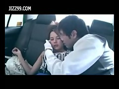 Ddrunk girl fucked by chauffeur in taxi