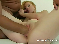 Amateur nympho fisted in her greedy pussy