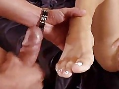 Teen Sucking then Finishing Off With Footjob