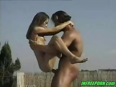 Petite German Teen Maria Pumped Outdoors