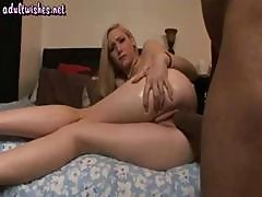 Cute Blonde Goes For A Big Black Cock And Sucks Before He Pounds Her