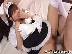 Shy Asian Maid Hates Getting Banged