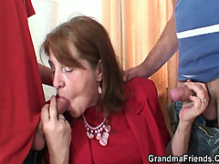 Bossy woman takes two cocks at once