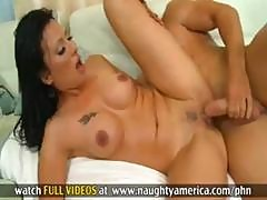 Gorgeous Brunette Teacher Takes Student To Bedroom And Fucks Him