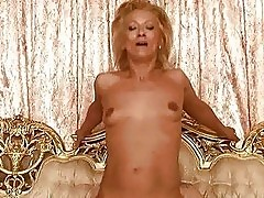Granny has nasty sex with her young lover