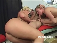 Big ass young blonde and mom fucked by st ...