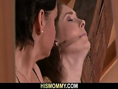 Nasty old mom toying her son's GF