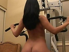 Exotic princess works out her love muscles
