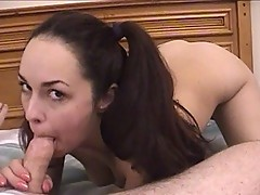 Horny brunette slut wants to stay young