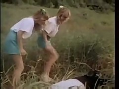 Teen schoolgirls take advantage of teacher
