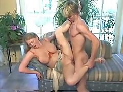 Classic German Porn From The 90s With Busty Blonde Blowing And Fucking