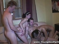 Teens having a fuck party