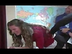 School punishment with ass spanking
