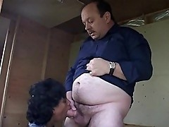 Black throbbing cunt and old white Caucasian cock