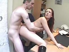French Schoolgirl Cynthia Lavigne Hooks Up With The Teacher For A Fuck In The Office