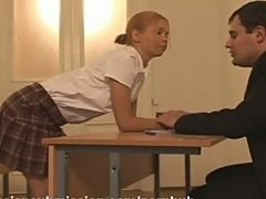 A naughty schoolgirl gets punished and fucked
