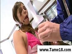 Brunette Teen Izzy Bella Is Made A Slave And Gets Gagged