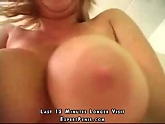 First you see her huge tits and then they do anal
