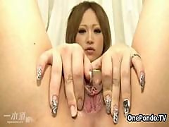 Petite Japanese Teen Girl Playing