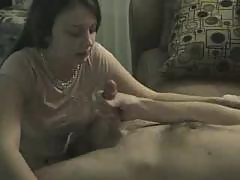Black haired GF living room BJ+Facia