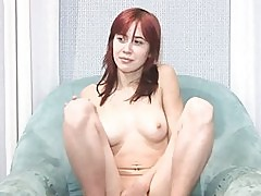 Russian redhair teasing naked body