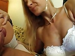 Horny young babes getting their asses pounded in white linge...