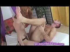 Young redhead beauty pounds horny stud up the ass