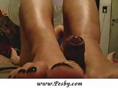 WifeВґs Great Footjob