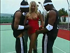 Elza Brown Interracial Gang Bang